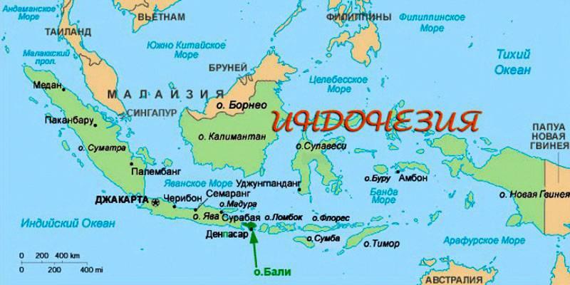 Iindonesia map 800х400