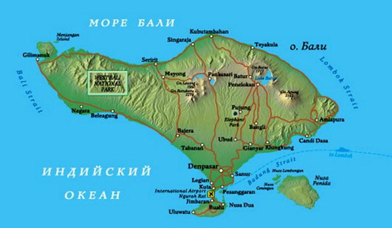 Map Bali 800x600